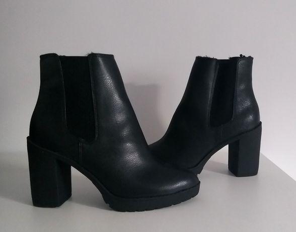 H&M czarne botki nowe 39