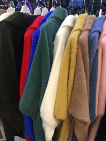 Płaszcz alpaka z kołnierzem-kolory
