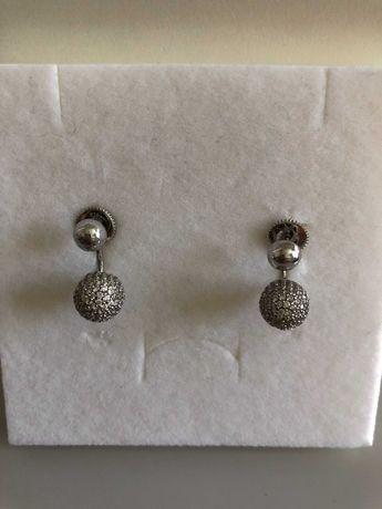 APART srebrne kolczyki z cyrkoniami 925