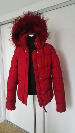 Bordowa/czerwona kurtka na zimę S