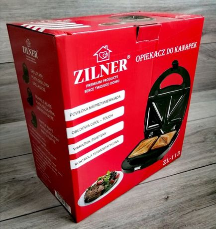OPIEKACZ 3W1 Grill-Toster-Gofrownica ZINLER