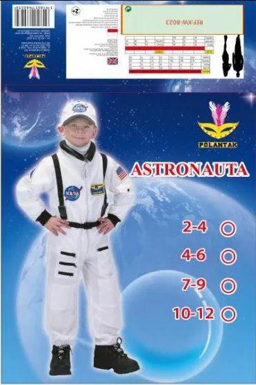 Strój Karnawałowy Astronauta dla Chłopców Rozmiar M Radom - image 1