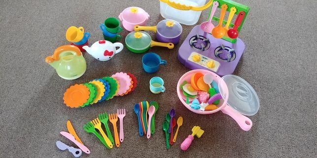 Набор кухня детская с посудой