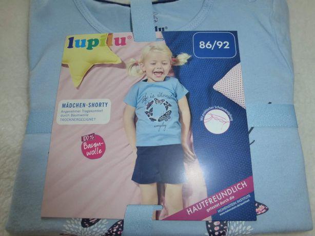 Пижамка 86-92,шорты+ футболка ,от Lupilu Германия