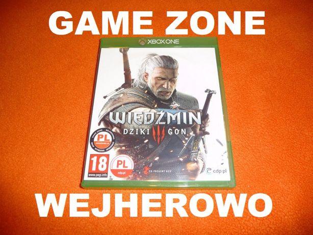 Wiedźmin 3 Dziki Gon Xbox One + S + X = PŁYTA PL Wejherowo