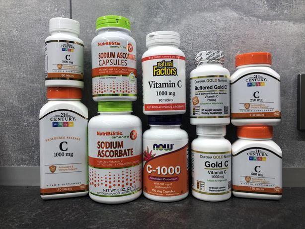 Витамины с IHerb,все в наличии.Цинк хелат,витамин С, Омега3
