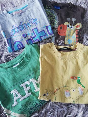 4 koszulki chłopięce na krótki rękaw 104cm