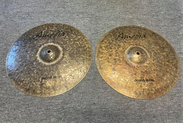 """Unikatowe AMEDIA 15"""" Dervish Hi-hat zestaw talerzy perkusyjnych blachy"""