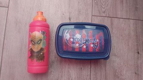 Bidon kanapnik zestaw śniadaniówka butelka spider man