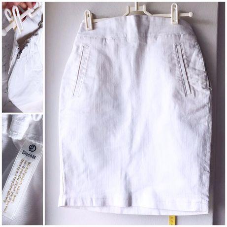 Dżinsowa spódniczka Discoat M 38 biała