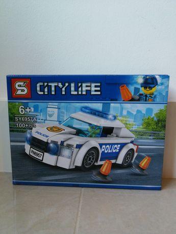 Klocki City Samochód policyjny 100el.