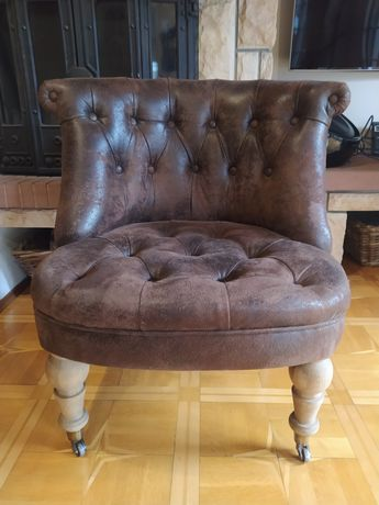 Fotel styl hampton, fotel klubowy, fotel kominkowy, fotel stylowy