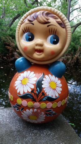 Неваляшка большая кукла целлулоид СССР
