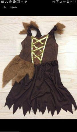 Sukienka, przebranie karnawałowe piratki, indianki, pokachontas.