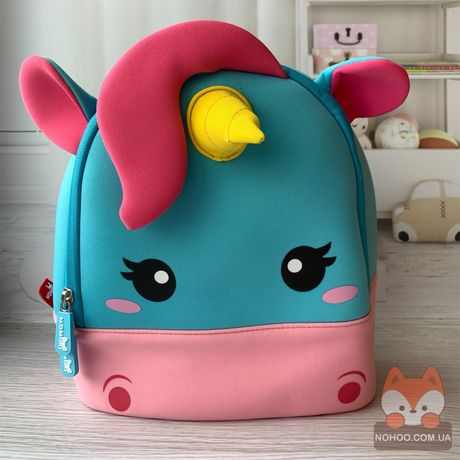 Детский рюкзак Nohoo Ноху для девочки Единорог Радужный NHB229M