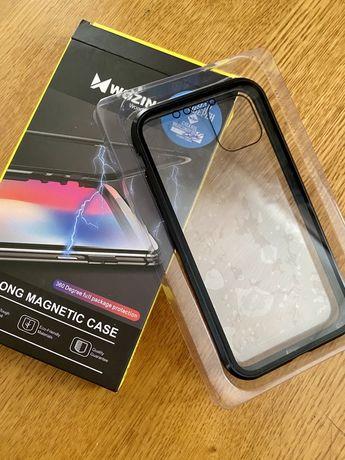 Чехол для iphone 11 metal magnetic case