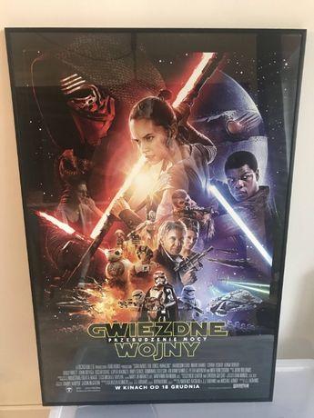 Rama wraz z plakatem filmowym Star Wars Przebudzenie Mocy