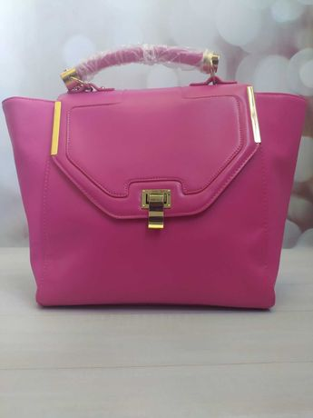 Стильная летняя розовая сумка