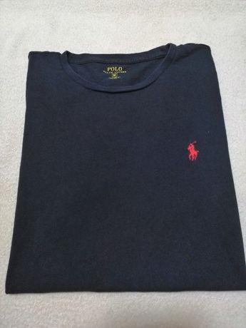 Ralph Lauren Polo Custom Fit T-shirt rozm. M kolor granat bawelna