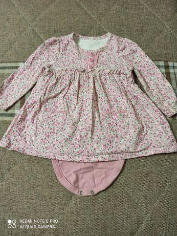 Фирменное платье mothercare 6-9 месяцев состояние нового