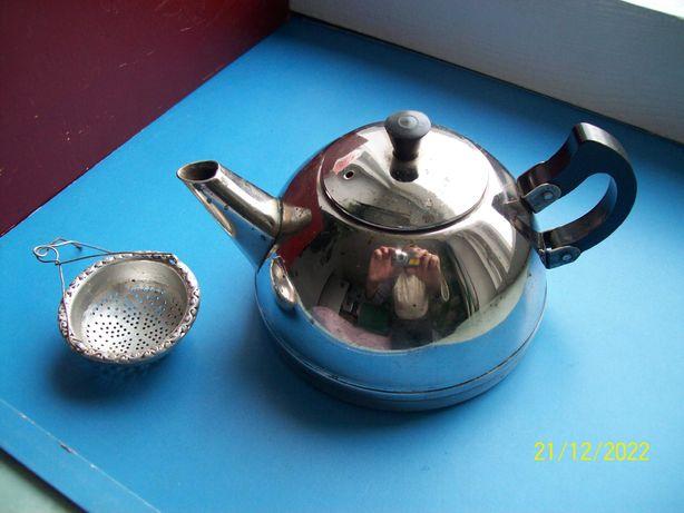 Чайник заварной из никелированого металла. СССР. Как детский