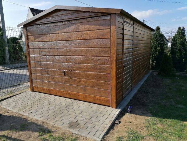 Garaż blaszany 3x5 drewnopodobny do wyboru