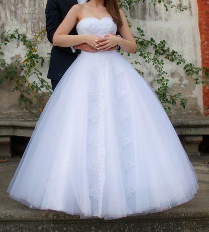 suknia ślubna La Sponsa biała 38/40 cyrkonie La Sponsa