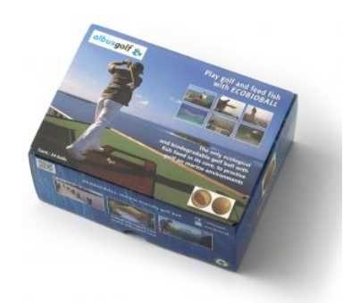Bolas de Golf - ECOBIOBALL - bolas biodegradáveis com comida de peixe