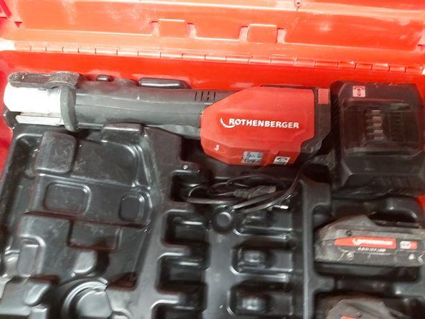 Rothenberger Romax 4000 praska - elektrohydrauliczna 2x akumulator 4ah