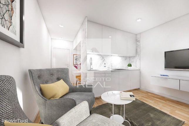 Apartamento T0 Novo com terraço em Leça da Palmeira