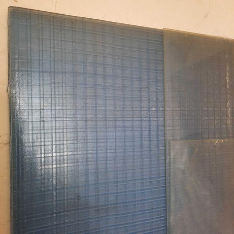 Скло фактурне голубого відтінку 160*85