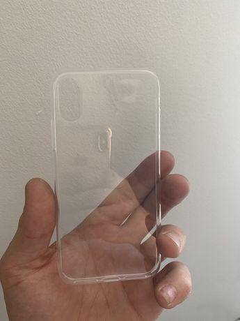 Case iPhone X / XS przeźroczysty + szkło hartowane