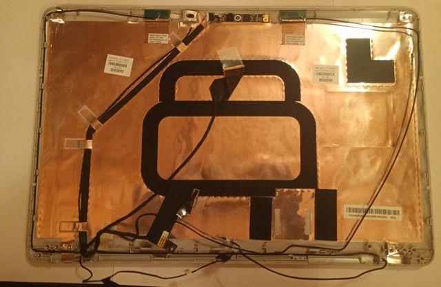 Верхняя крышка ноутбука HP G62 со шлейфами