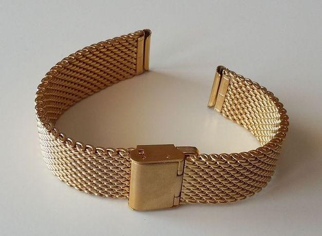 Bransoleta mesh milano w kolorze złotym lub srebrnym