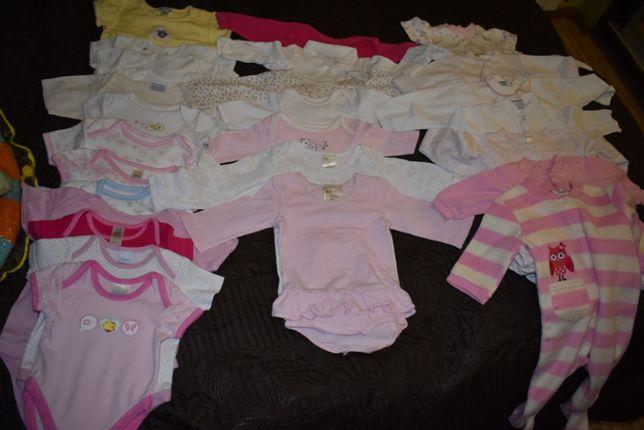 Paka ubranek dla dziewczynki wyprawka od urodzenia ok. 60sztuk (nr1)