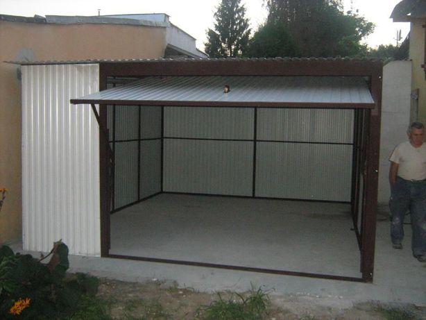 garaże blaszane 4 x 6, kolor, producent, wiaty, hale, blaszaki