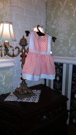 Suknia w grochy 74/80cm
