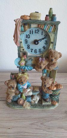 Figurka zegar miś Teddi prl
