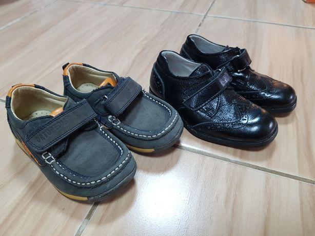 Кожаная обувь на мальчика 23 р-р хорошее состояние