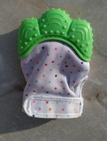 Перчатка - прорезыватель, грызунок для новорожденного