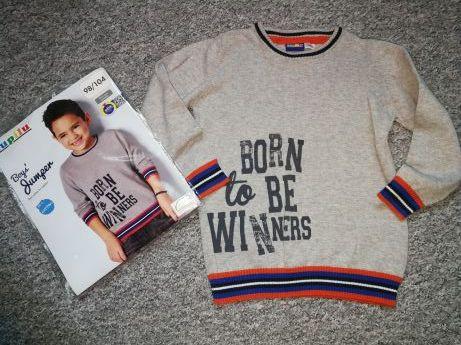 Sweter cienki - sweterek szary rozm. 98/104