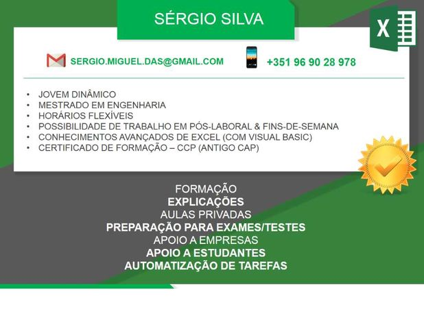 Aulas & Trabalhos em EXCEL / MATLAB / SOLIDWORKS