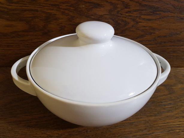 Biała waza Ćmielów porcelana vintage Prl ceramika misa