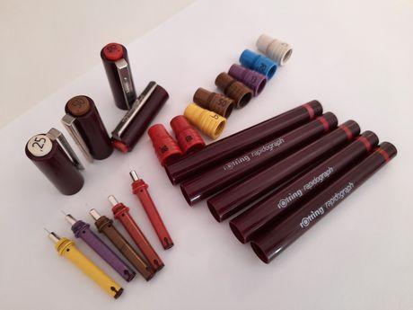 Lote de canetas rotring e peças para desenho técnico - OFERTA ENVIO