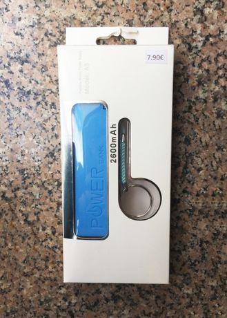 Power Bank de 2600mAh com porta-chaves / Bateria externa 2600mAh -NOVO