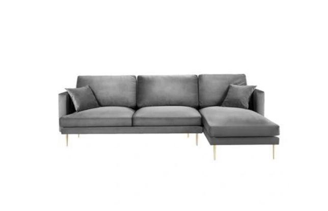 Ekskluzywna Sofa narożna 4 osobowa Brunello Light Grey