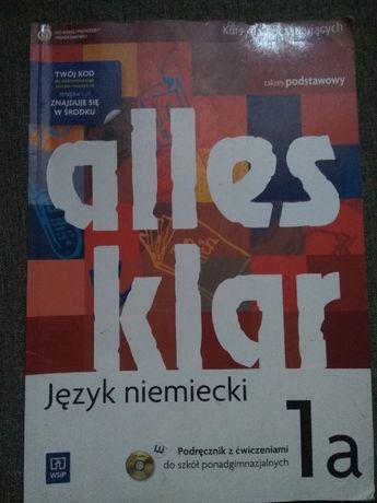 Podręcznik z ćwiczeniami do języka niemieckiego Alles Klar 1a