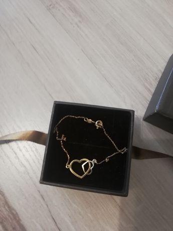 Złota bransoletka w kształcie serca W. Kruk