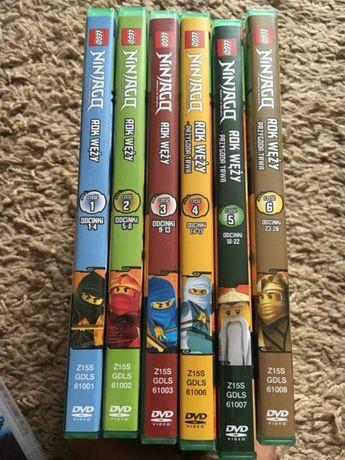 Bajki dvd NINJAGO seria 6 sztuk