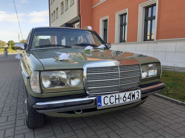 Auto do ślubu klasyk Mercedes W123 zabytek